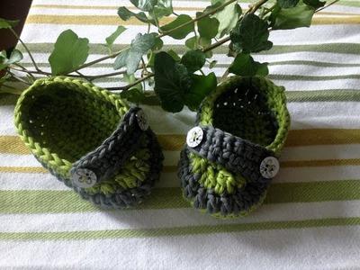 Zapatitos estilo mocasín en crochet - Instrucción zapatitos de BerlinCrochet - Parte1, Suela