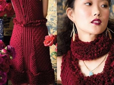 #14 Ruffle Dress, Vogue Knitting Holiday 2012