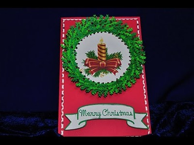 3D Christmas Wreath Card - Cricut Explore Tutorial
