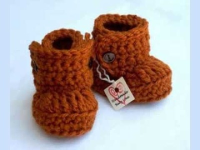 Baby Boy Crochet Booties