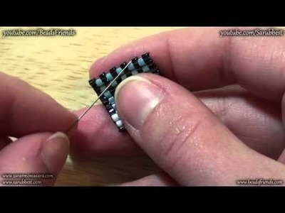 BeadsFriends: Peyote Stitch Tutorial - How to tie off the thread and add new thread