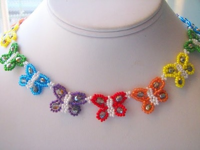 Butterfly necklace tutorial