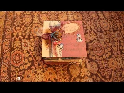 Capture Life's Moments Scrapbook Mini Album Vintage style DCWV Heirloom Stack
