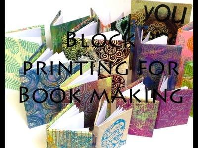 Craft Ideas - Block printing Book making
