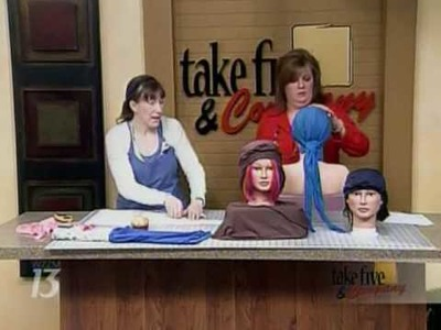 CraftSanity On TV: No-sew Head Scarf Tutorial