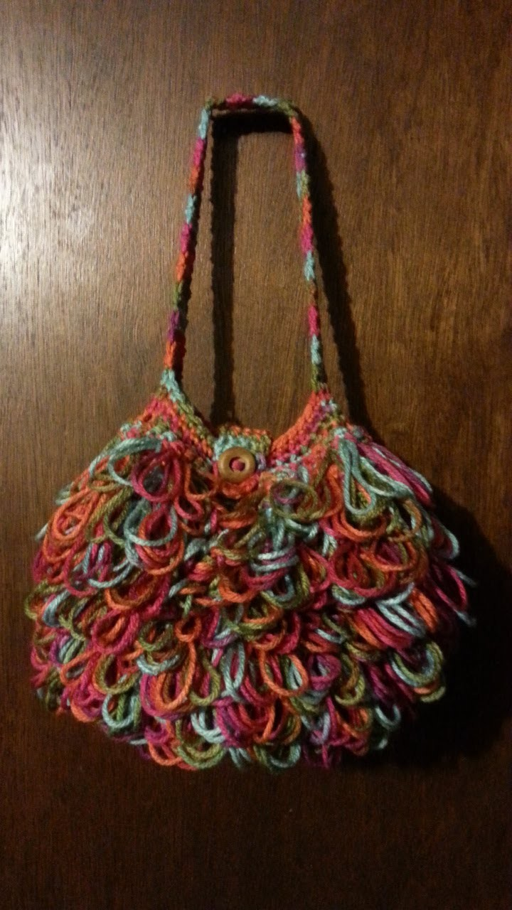 #Crochet Bag loopy #handbag #purse #TUTORIAL Crochet purse Crochet Tutorial DIY purse