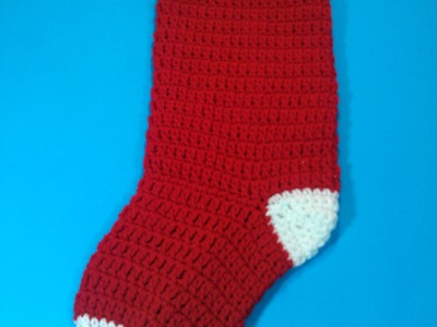 #Crochet Christmas stocking - Video 2 (Final part)