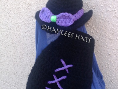 Crochet witch hat & cape photo prop| set Haylees Hats | Fresh off tha hook