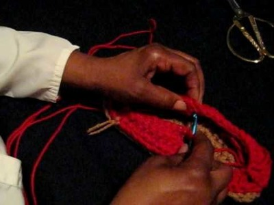 Crocheting Top of Loafer pt 5