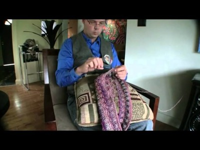 Curtzy.com - How to Crochet Lesson 1 - Body Positioning with Michael Sellick and Curtzy Crochet