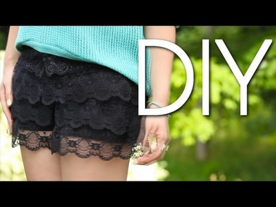 DIY Cute & Easy Lace Shorts. Old to New {How to Make}