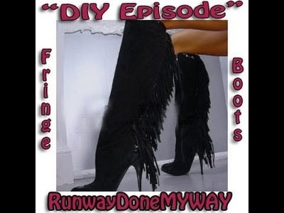 DIY Guide to Make Designer Fringe Boots