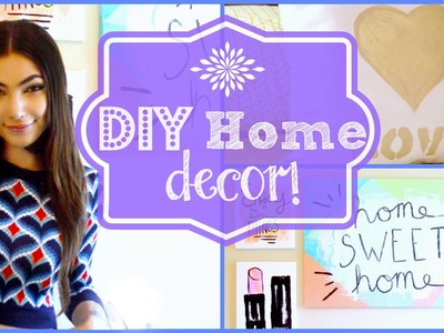 DIY Home Decor: Wall Art + Accent Pillow!