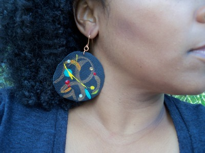 DIY: How To Make Funky Leather Earrings