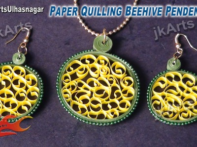 DIY How to make Paper Quilling Beehive Jewelry Set - JK Arts 416
