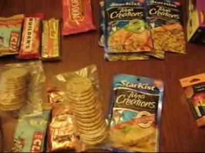 DIY MRE Back Packing meals