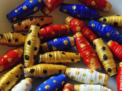 DIY paper craft HOW TO MAKE PAPER BEADS