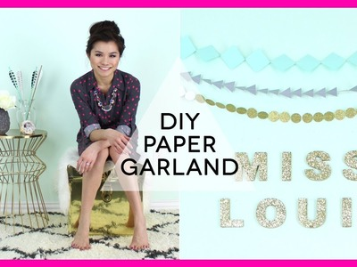 DIY: Paper Garland Decorations | Miss Louie