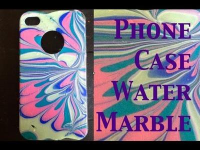 DIY: Water Marble Iphone Case ♡ Theeasydiy #PhoneCaseArt