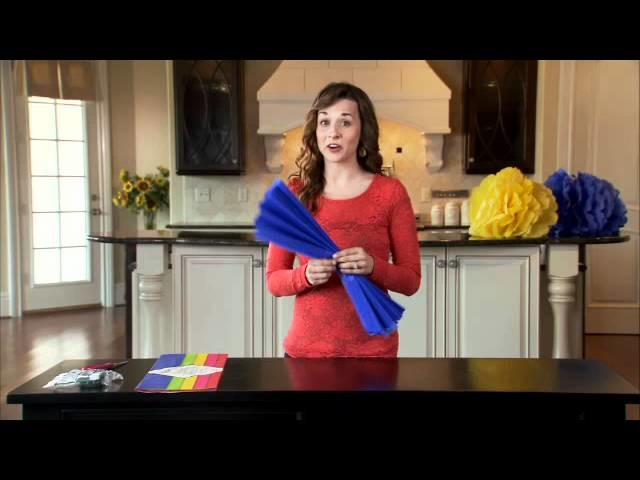Dollar Tree Craft Idea - Giant Tissue Paper Flowers
