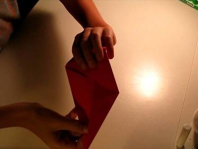 Easy origami triangular prism