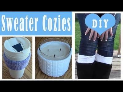 Fall DIY: Sweater Cozies
