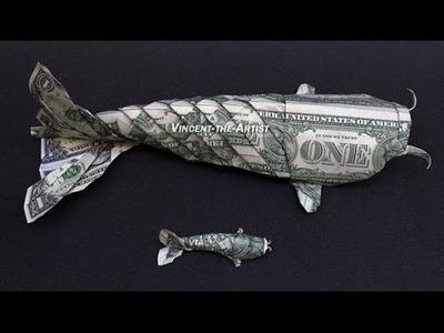 Foot Long Money Origami Koi Fish Dollar Bill Art