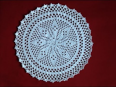 Free Crochet Flower Doily part 1