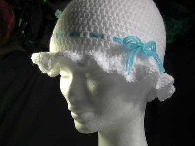 Frilly Brimmed Crochet Hat Tutorial