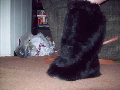 Fuzzy Boot Cover Tutorial