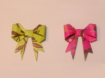 "HD. TUTO: Faire un noeud ""ruban"" en origami - Make a knot ""ribbon"" origami"
