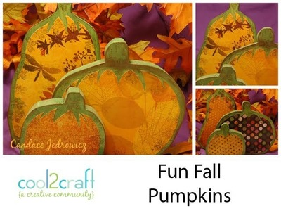 How to Decorate Fun Fall Wood Pumpkins by Candace Jedrowicz