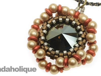How to Embellish a Beaded Bezel for the Shady Glade Necklace