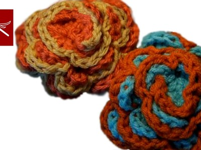 How to make a Crochet Spring Flower Rose Crochet Geek