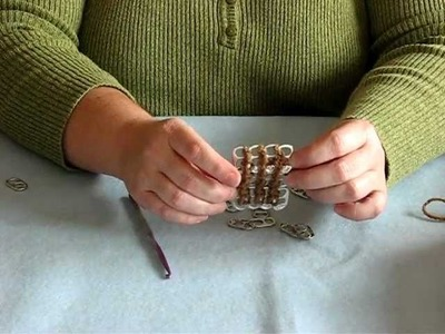"How To Make A Pop Tab ""Fabric"" By Chaining In Crochet"