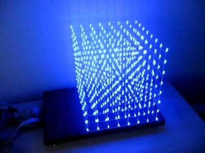 LED cube 8x8x8 demo