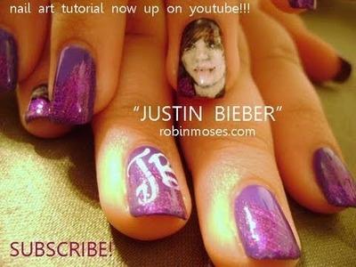 Nail Art Justin Bieber
