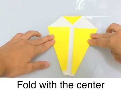 Origami banana instruction movie with English subtitles