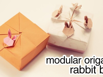 Origami Modular Rabbit Box Tutorial