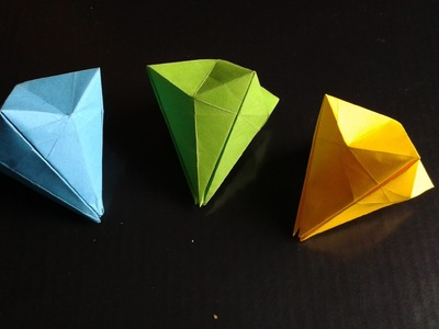 Origami paper diamond easy