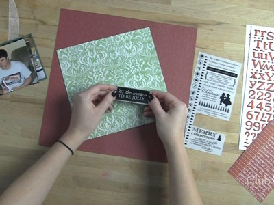Scrapbook Layout Inspiration for Christmas Time