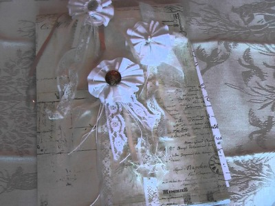 Scrapbooking: Vintage Shabby Chic Rosette Tutorial Pt 2