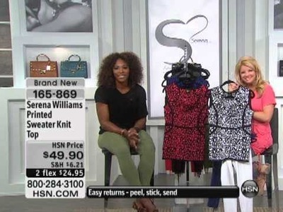 Serena Williams Printed Sweater Knit Top