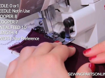 Serger Tutorial: How to Create a Blind Hem
