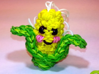 3-D Happy Corn Tutorial by feelinspiffy (Rainbow Loom)