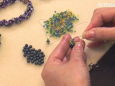 Artbeads Mini Tutorial - Spiral Rope Seed Bead Technique with Cynthia Kimura