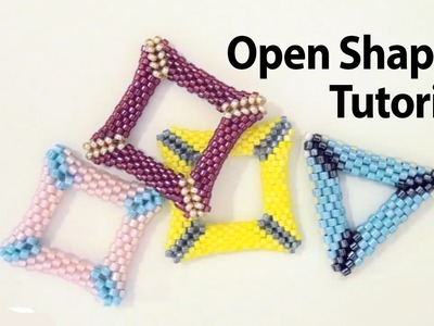BeadsFriends: Basic Peyote Tutorial - Peyote open shapes: how to make a holed triangle with beads