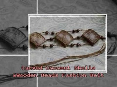 Carved Coconut Shells and Wooden Beads Fashion Belt