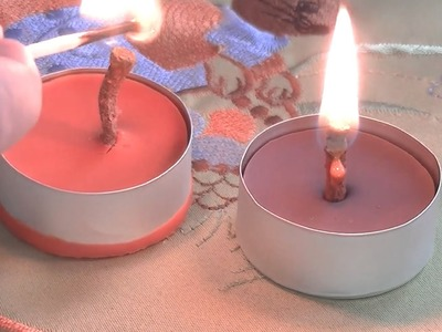 Crayon Candle - DIY - How to make a candle out of crayons