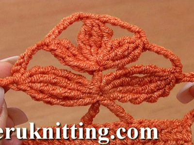 Crochet Complex Stitch of Clusters Tutorial 34 Crochet Twig Motif